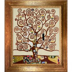 Gustav Klimt 'Tree of Life' Hand-painted Framed Art Print