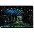 Van Gogh 'Starry Night over the Rhone' Hand-painted Framed Art Print