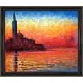 Monet 'San Giorgio Maggiore by Twilight' Hand-painted Framed Art Print