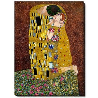 Klimt 'The Kiss' Hand-painted Framed Canvas Art