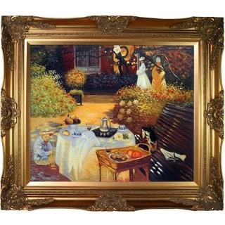Monet 'The Luncheon' Framed Canvas Art