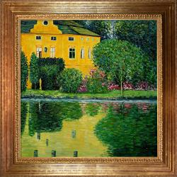 Klimt 'Schloss Kammer on Attersee' Hand-painted Framed Canvas Art