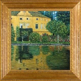 Klimt 'Schloss Kammer on Attersee' Hand-painted Framed Canvas Art