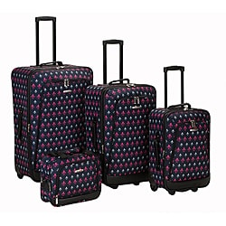 Rockland Designer Icon Expandable 4-piece Luggage Set