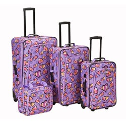 Rockland Designer Love Expandable 4-piece Luggage Set