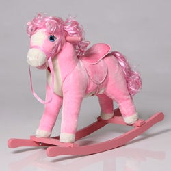 The Charm Company Pink Horse Rocker with Sounds
