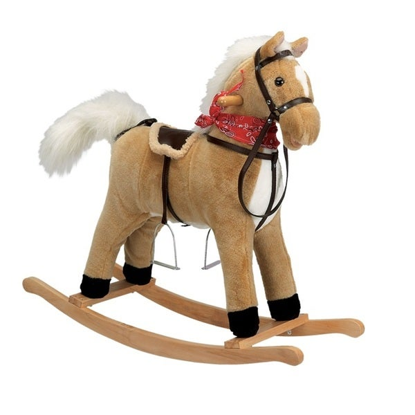 Charm Co Blonde Horse Rocker with Moving Mouth and Tail
