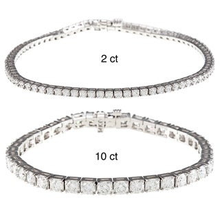 14k White Gold 2ct TDW Diamond Dreams Tennis Bracelet (G-H,SI2)