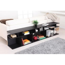 Furniture of America Katrin Black Wood/ Console Sofa Table