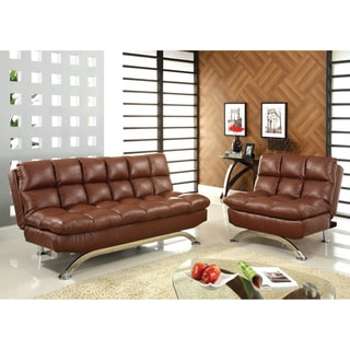 Furniture of America Deep Cushion 2-piece Sofa/ Sofabed and Chair
