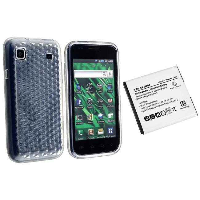 Battery and Clear TPU Silicone Skin Case for Samsung Galaxy i9000