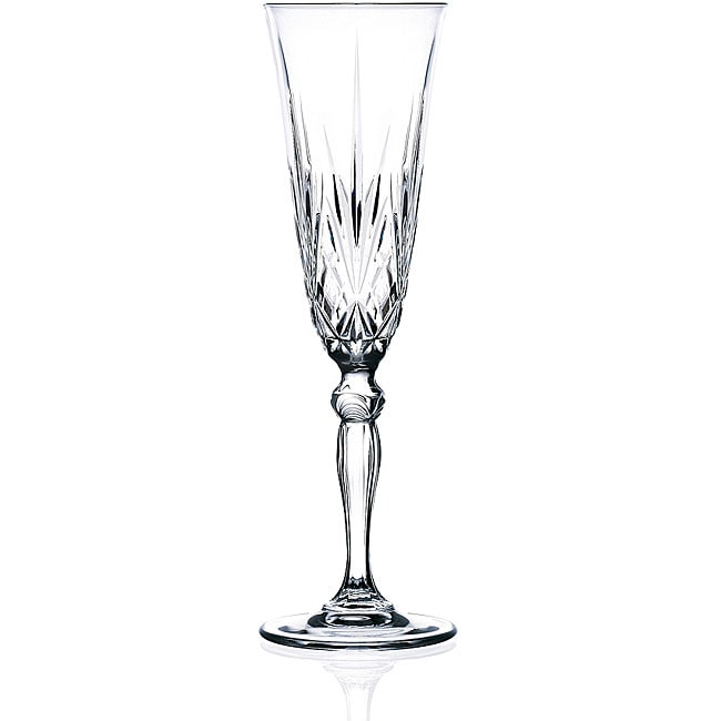 Melodia Collection Crystal Champagne Flutes (Set of 6)