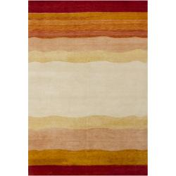 Hand-knotted Mandara New Zealand Wool Rug (6'6 x 9'9)
