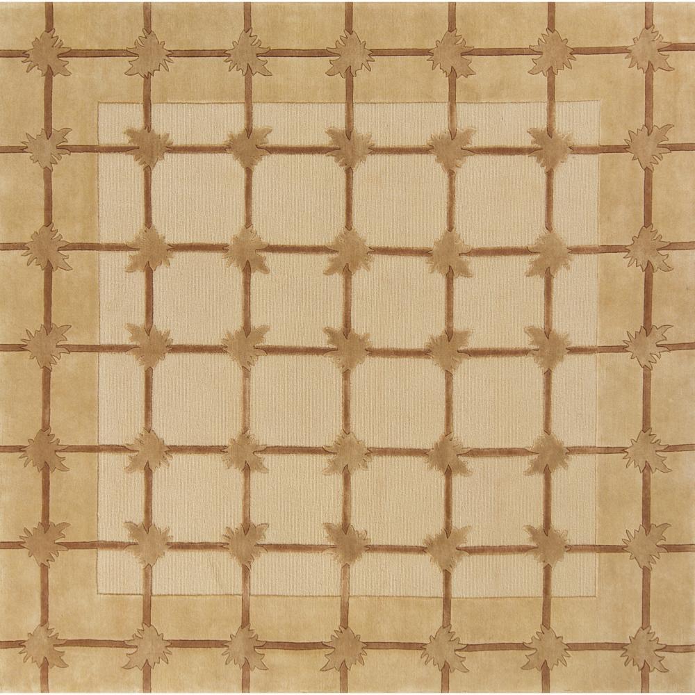 Hand-knotted Mandara New Zealand Wool Rug (8' x 8')