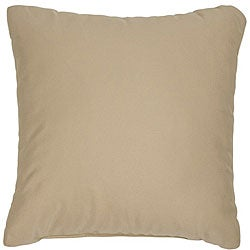 Antique Beige 22-inch Knife-edged Indoor/ Outdoor Pillows with Sunbrella Fabric (Set of 2)