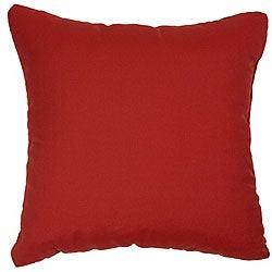Jockey Red 22-inch Knife-edged Indoor/ Outdoor Pillows with Sunbrella Fabric (Set of 2)
