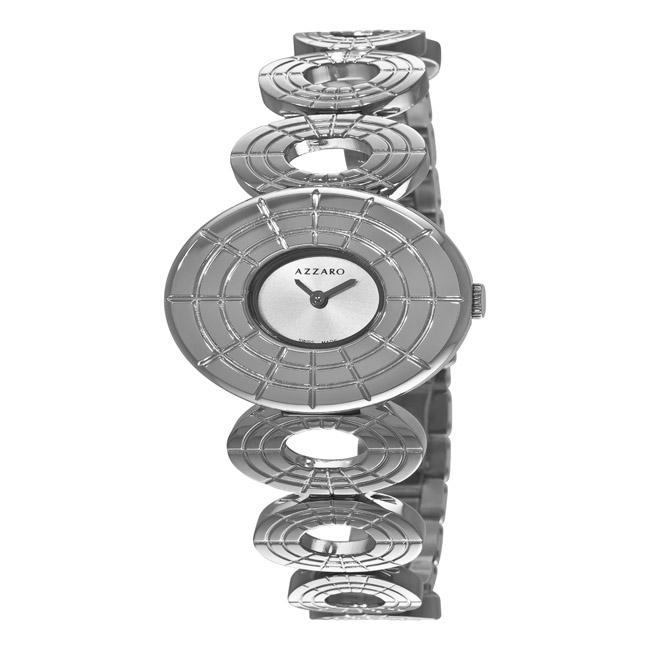 Azzaro Women's 'Sparkling' Silver Dial Watch