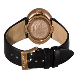 Azzaro Women's 'Sparkling' Rose PVD Black Dial Watch