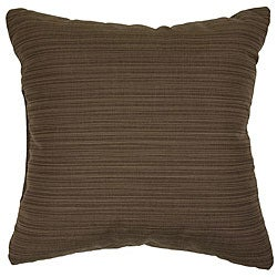 Walnut 22-inch Knife-edged Outdoor Pillows with Sunbrella Fabric (Set of 2)