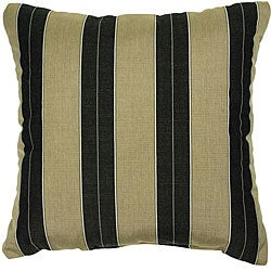 Cocoa/ Black 22-inch Knife-edged Indoor/ Outdoor Pillows with Sunbrella Fabric (Set of 2)