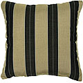 Cocoa/ Black 22-inch Knife-edged Outdoor Pillows with Sunbrella Fabric (Set of 2)
