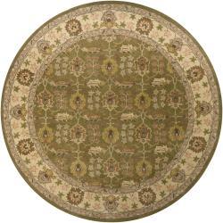 Hand-Tufted Mandara Floral Oriental Wool Rug (7'9 Round)