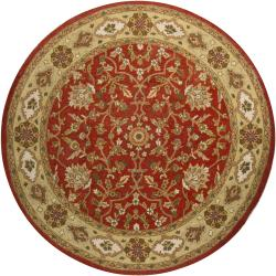 Traditional Hand-Tufted Mandara Oriental Wool Rug (7'9 Round)