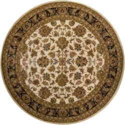 Formal Hand-Tufted Mandara Oriental Wool Rug (7'9 Round)