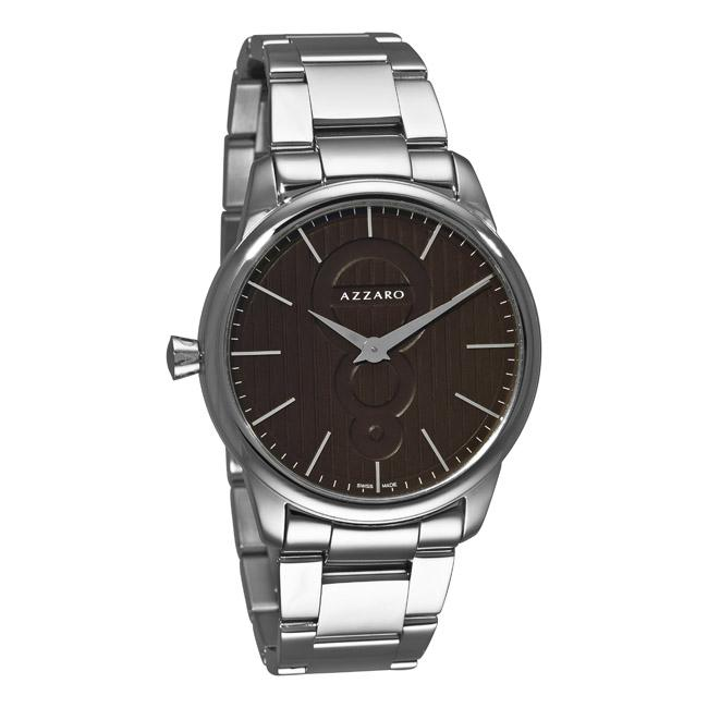 Azzaro Men's 'Legend' Stainless Steel Brown Dial Watch