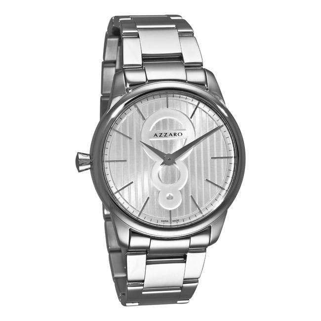 Azzaro Men's 'Legend' Stainless Steel Silver Dial Watch