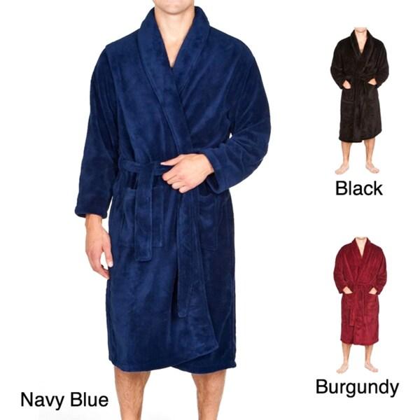Shawl Collar Fleece Bathrobe