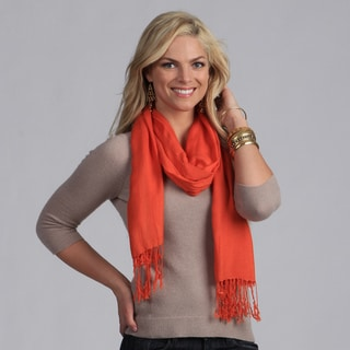 Peach Couture Hand-knotted Orange Wrap