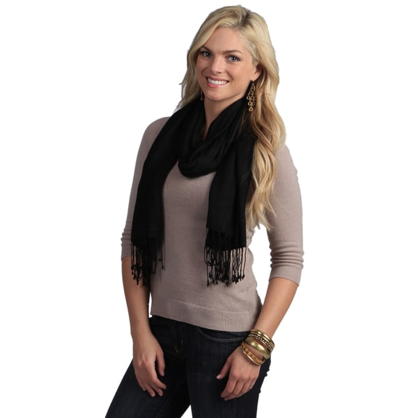 Peach Couture Hand-knotted Black Wrap