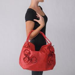Adi Designs Women's Floral Zipper-top Handbag