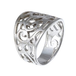 Platifina Platinum over Silver Filigree Ring