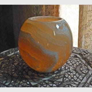 Large Alabaster Globe Votive (Egypt) 612015
