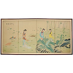 Ladies in the Garden Silkscreen (China)