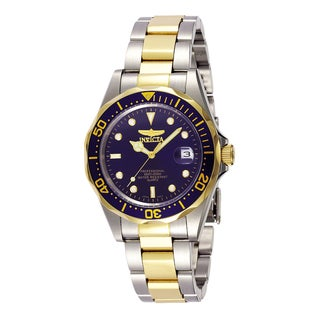 Invicta Men's Blue Dial Two-Tone Watch