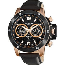 Akribos XXIV Men's Multi-function Stainless Steel Swiss Quartz Watch