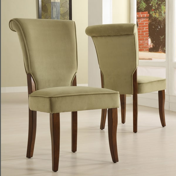 ... Upholstered Dining Chair Set of 2 Room Modern Furniture Arm  eBay