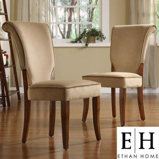 ETHAN HOME Andorra Peat Velvet Upholstered Dining Chair (Set of 2)