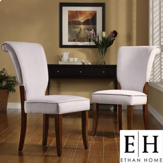 ETHAN HOME Andorra Grey Velvet Upholstered Dining Chair (Set of 2)