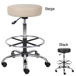 Boss CaressoftPlus Vinyl Adjustable 16-inch Diameter Drafting Stool