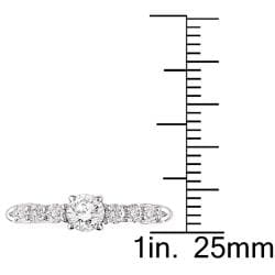 14k White Gold 5/8ct TDW Diamond Engagement Ring (G-H, I1-I2)