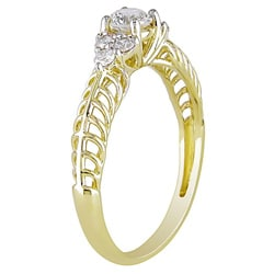 Miadora 10k Yellow Gold 1/2ct TDW Diamond Ring (G-H, I2-I3)