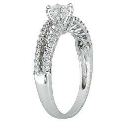 Miadora 14k White Gold 4/5ct TDW Diamond Ring (G-H, I1-I2)