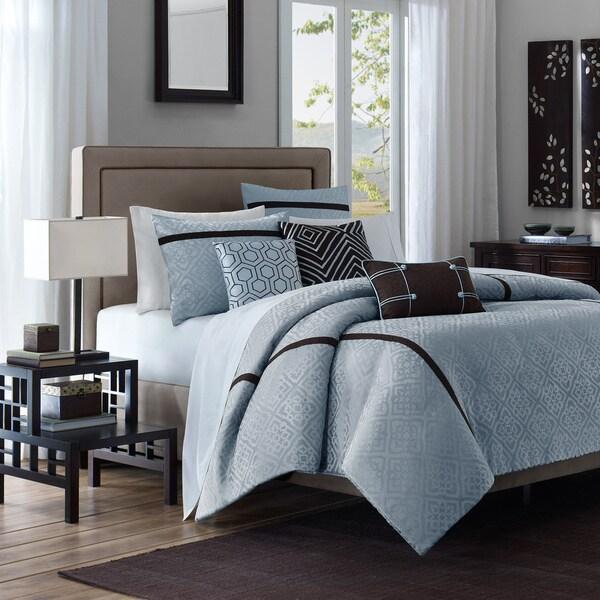 Madison Park Blue Highgate 6-piece Duvet Cover Set