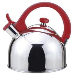 Magefesa Acacia Red Stainless Steel 2.1-quart Tea Kettle
