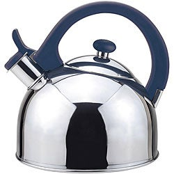 Magefesa Acacia Blue Stainless Steel 2.1-quart Tea Kettle