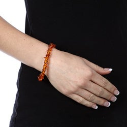 Charming Life Amber Chip Bird Charm Toggle Bracelet